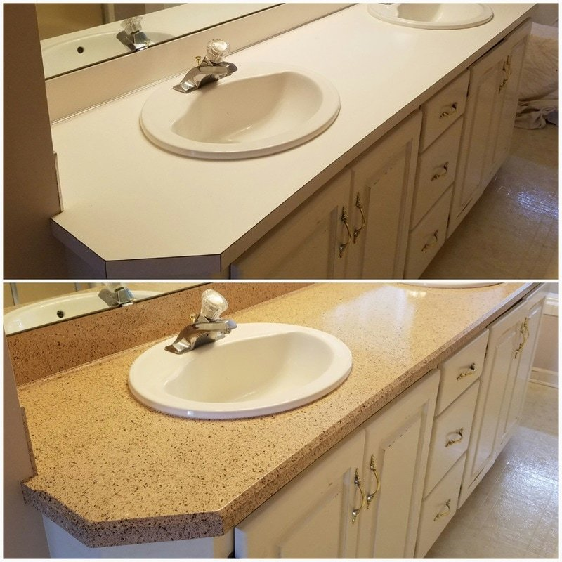 epoxy bathroom vanity resurfacing
