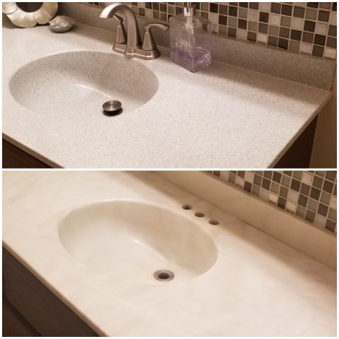 epxoy bathroon vanity resurfacing omaha