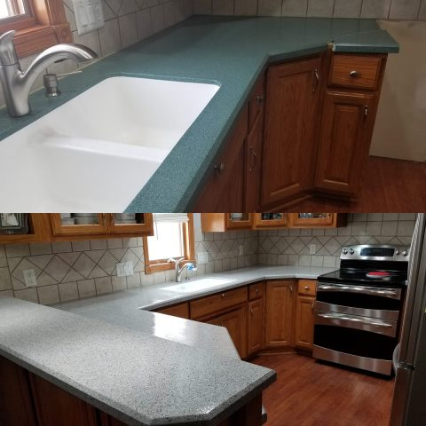 kitchen countertop vanity resurfacing