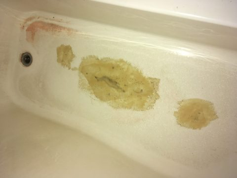 tub before resurfacing