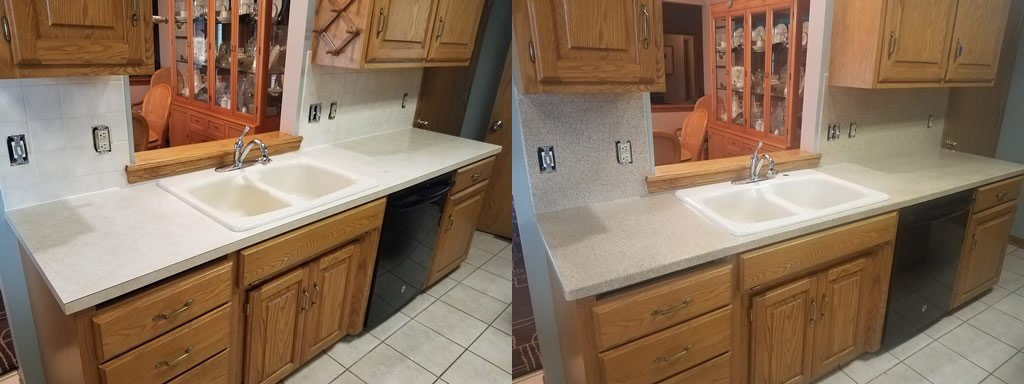 kitchen countertops before and after epoxy resurfacing