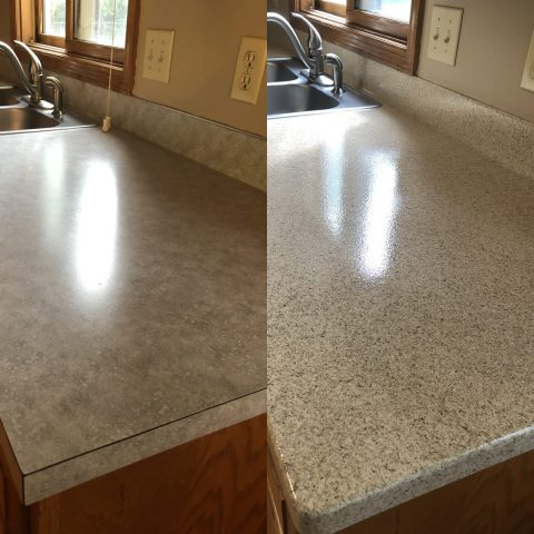 kitchen coutertops before after resurfacing