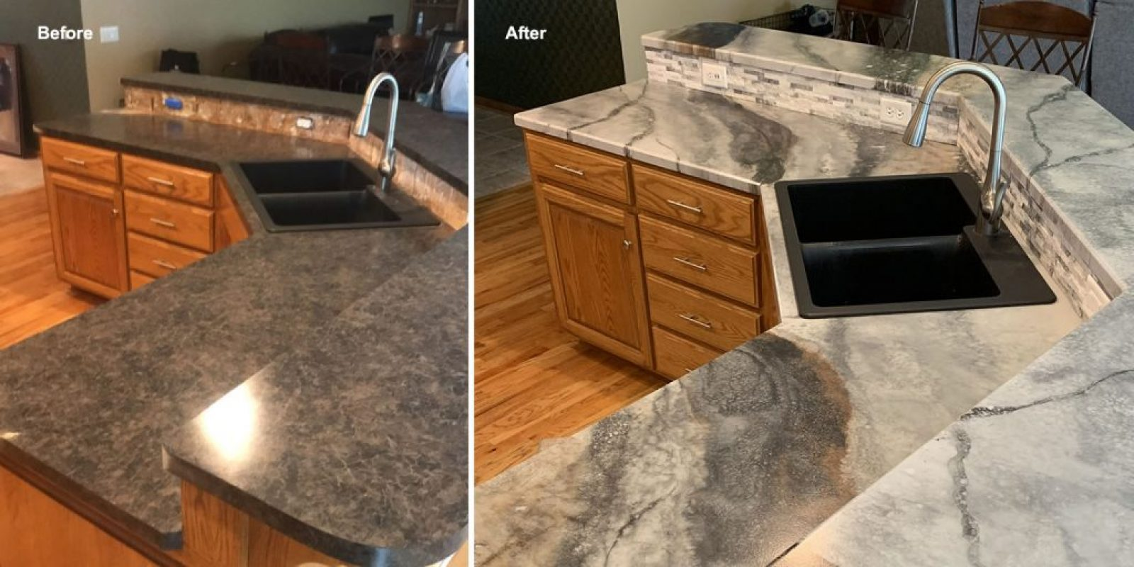 Resurfacing Kitchen Countertop Omaha Bathroom Vanity